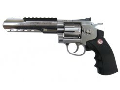 """Airsoft Revolver Ruger SuperHawk 6"""" nikel AGCO2"""