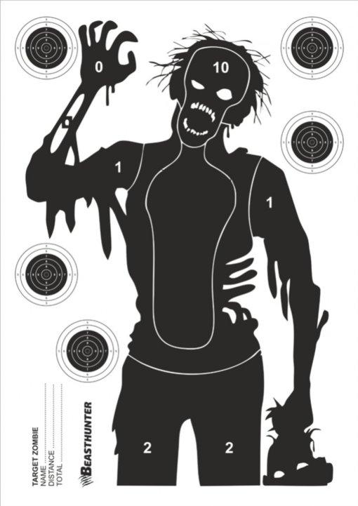 Terč silueta Beast Hunter Zombie 10ks