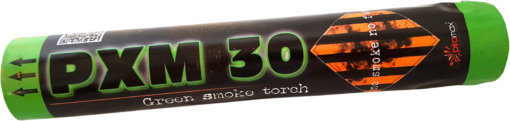 Pyrotechnika Zelená dymovnica PXM30 - 1ks