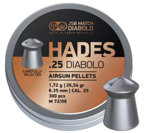Diabolo JSB Hades 300ks kal.6,35mm